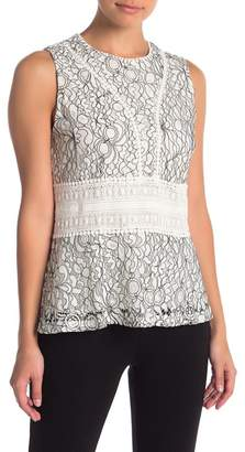 Hazel Embroidered Lace Sleeveless Top