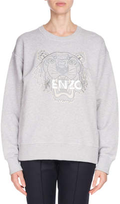 Kenzo Embroidered Tiger Logo Sweatshirt