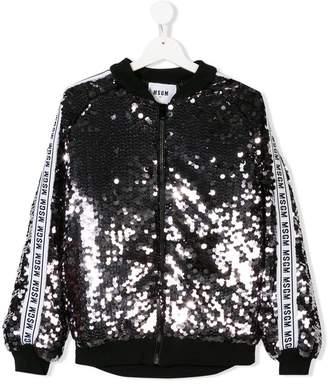 MSGM zipped embellished jacket