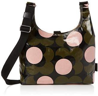Orla Kiely Women s Shiny Laminated Shadow Flower Print Midi Sling Bag  Shoulder Handbag (W x c232ed486118b