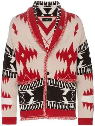 Alanui jacquard cashmere shawl cardigan