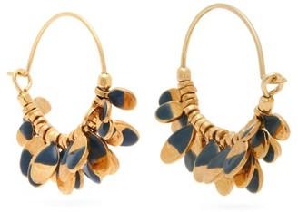 Isabel Marant New Leaves Drop Hoop Earrings - Womens - Blue