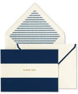 Kate Spade Navy Stripe Thank You Card Set