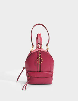 See by Chloe Mino Mini Backpack in Berry Pink Small Grain Cowhide Leather