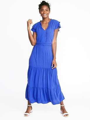 3cb5e768e1b Old Navy Waist-Defined Ruffle-Sleeve Crepe Maxi for Women