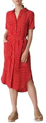 Whistles Montana Striped Shirt Dress
