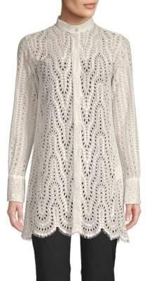 Valentino Lace Tunic Shirt