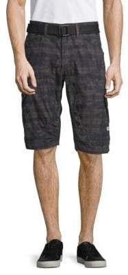 ProjekRaw Plaid Cotton Shorts