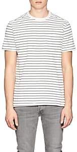 Barneys New York MEN'S STRIPED COTTON JERSEY T-SHIRT-WHITE SIZE XL