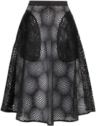 Paskal High Waisted Mesh Midi Skirt