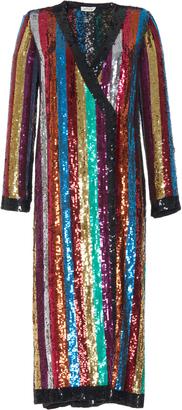 Attico Grace Sequin Wrap Dress