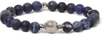 Tateossian Stonehenge Sodalite Bead And Sterling Silver Bracelet