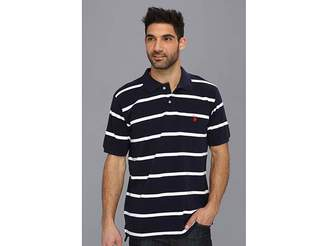 U.S. Polo Assn. Thin Striped Pique Polo with Small Pony Men's Short Sleeve Pullover