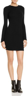AQUA Bell Sleeve Ribbed Dress - 100% Exclusive $58 thestylecure.com