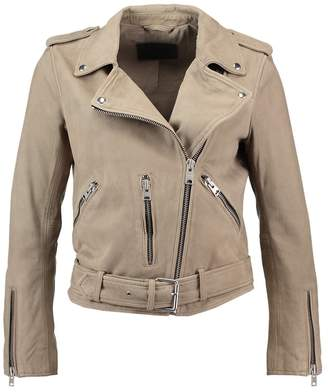 AllSaints BALFERN BIKER Leather jacket taupe