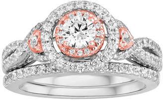 MODERN BRIDE I Said Yes 1 CT. T.W. Diamond 10K Two-Tone Gold Bridal Ring Set