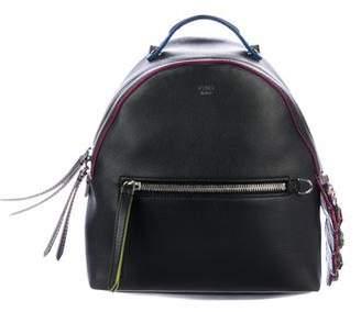 Fendi Mini Embellished Croc-Tail Backpack