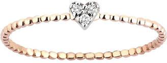 Rosegold The Alkemistry Kismet by Milka diamond heart 14ct rose-gold ring