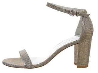 Stuart Weitzman Nearly Nude Metallic Sandals w/ Tags