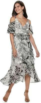 Petite Chaya Tie-Waist Cold-Shoulder Maxi Dress