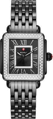 Michele Deco Madison Mid Ceramic Bracelet Watch, 31mm