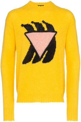 Prada long sleeve banana knit sweater