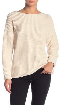 Catherine Malandrino Boatneck Chunky Knit Pullover Sweater