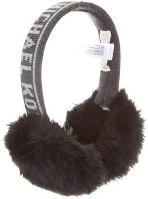 MICHAEL Michael Kors Fine Knit Logo Earmuffs w/ Tags