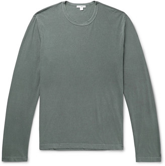 James Perse Combed Cotton Jersey T-Shirt - Men - Green