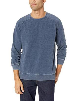 Lucky Brand Men's Venice Burnout Crew Neck Sweatshirt