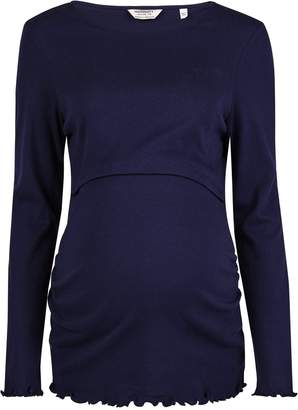 Dorothy Perkins Womens **Maternity Navy Double Layer Nursing Top