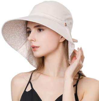 a29ba18b BEIGE Comhats Womens Sun Protection Hats Summer Gardening Fishing Hiking  Shades Hat UPF 50 Wide Brim