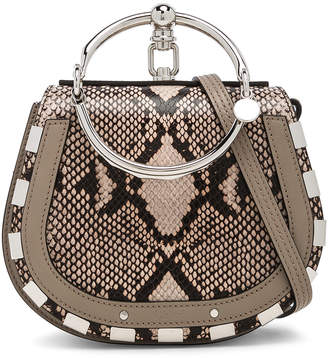 Chloé Small Nile Python Print Leather Bracelet Bag
