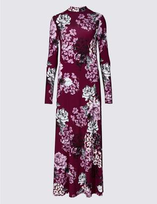 Marks and Spencer Floral Print Long Sleeve Maxi Dress