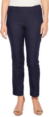 ST. JOHN'S BAY Straight Fit Twill Pull-On Pants-Petite