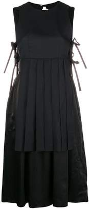 Comme des Garcons pleated layer tie-side dress