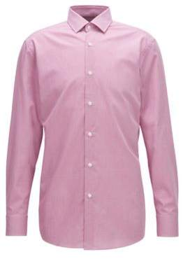 BOSS Hugo Nailhead Cotton Dress Shirt, Slim Fit Marley US 16/R Dark pink