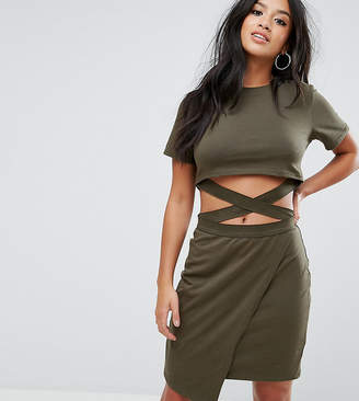 Asos T-shirt Mini Bodycon Dress with Cut About Straps