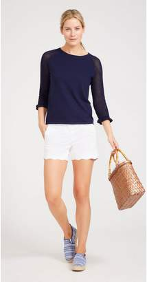 J.Mclaughlin Petal Scallop Cotton Twill Shorts