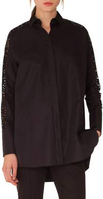 Akris Punto Lace Sleeve Cotton Tunic