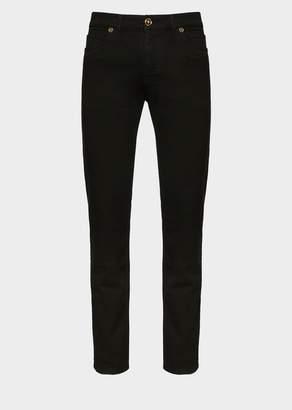 Versace Medusa Button Denim Jeans
