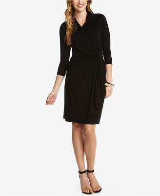 Karen Kane Three-Quarter-Sleeve Faux-Wrap Dress