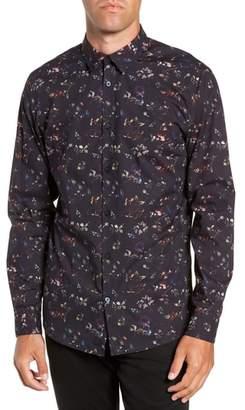 Selected Primus Slim Fit Floral Print Sport Shirt