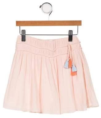 Chloé Girls' Flared Tassel-Accented Skirt