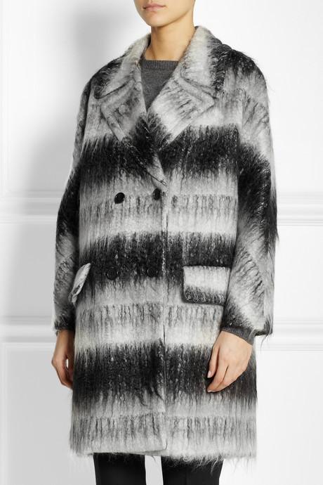 Marni Oversized brushed textured-weave coat