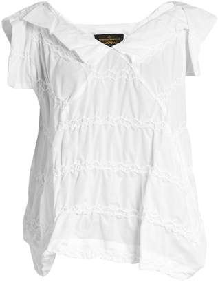 VIVIENNE WESTWOOD ANGLOMANIA Godet zigzag-stitched top