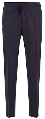 HUGO BOSS Slim-fit cropped trousers with drawstring waist