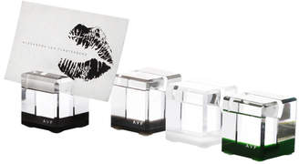 "Alexandra Von Furstenberg Acrylic Placecard Holders (Set of 6) ""Rock Blocks"""