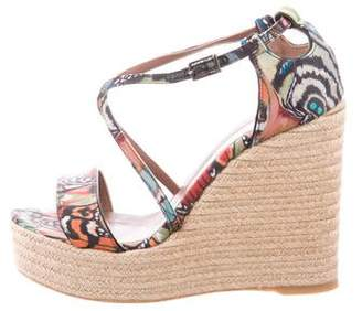 Tabitha Simmons Printed Espadrille Wedges