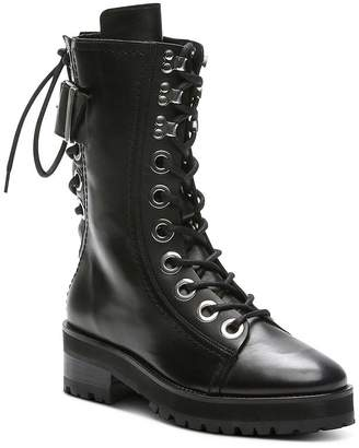The Kooples Women's Eyelets & Buckles Leather Combat Boots